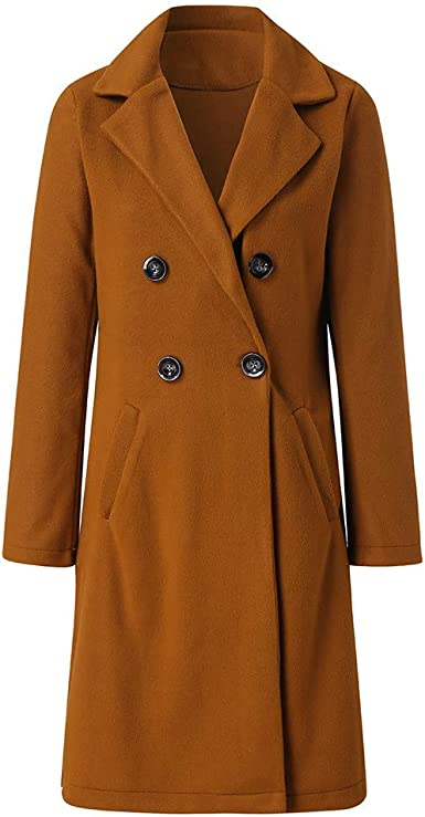 Misaky Womens Cardigan Work Office Suit Winter Lapel Solid 3//4 Sleeve Cropped Double Breasted Pea Coat