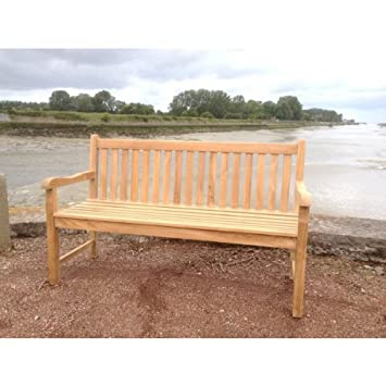 Banc Loon Plage En Teck Massif Naturel Grade A Haute Qualité Amazon
