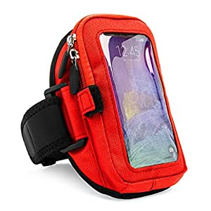 VanGoddy Zippered Armband for Apple iPhone 6 / iPhone 6 Plus / Samsung Galaxy Note 4 (Red)