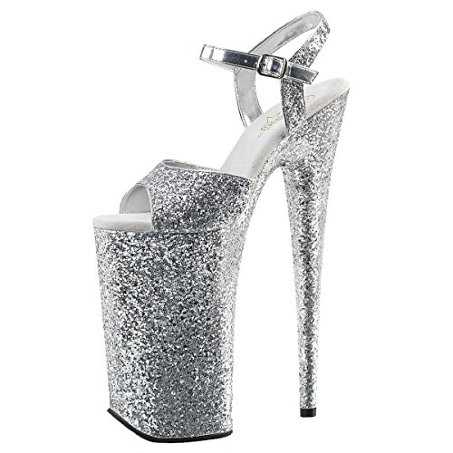 Heels-Perfect Plateau Sandalette, Damen, Silber (Silber) Silber (Silber)