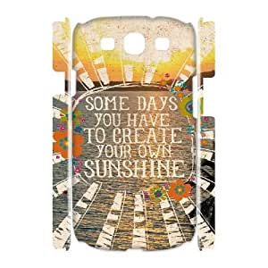 Samsung Galaxy S3 I9300 Case, DDdiy you are my sunshine Custom 3D Case for Samsung Galaxy S3 I9300