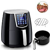 Cheap Air Fryer,Vilapur Digital Air Fryer XL with Time Temperature Control,Large LCD Touch Screen, Oil Less Low Fat with 8 Cook Presets 4.2QT, Black