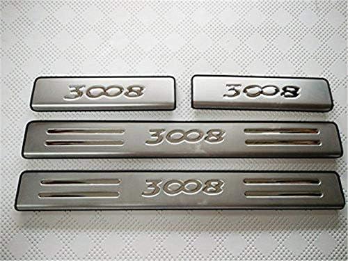 Yueng Soglia di Finitura per Modanatura del batticalcagno del battitacco dellabitacolo Esterno in Acciaio Inossidabile 4-Pack
