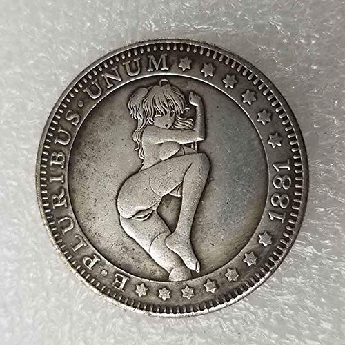 NiuChong Best Morgan US Dollars - 1881 Hobo Nickel Coin -Old Coin Collecting-US Dollar USA Old Morgan Dollar -Plated US Coins Love it
