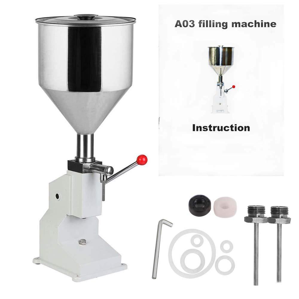 5-50ml Filling Machine A03 Manual Liquid Paste Filling Machine for Water Oil Cream Shampoo Cosmetic Filler