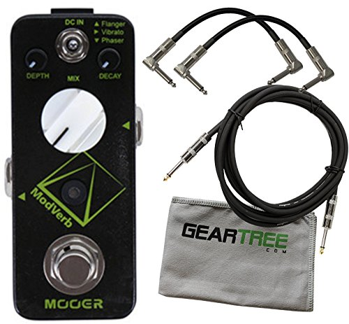 Mooer Modverb Digital 3-Mode Modulation/Reverb Pedal w/ 3 Cables and Cloth by MOOER