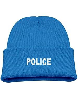 Police Word Boy Girl Beanie Hat Knitted Beanie Knit Beanie