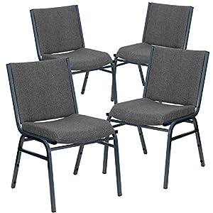 Flash Furniture Hercules Series Heavy Duty Chair 4 Pack 3 Gray Silvervein