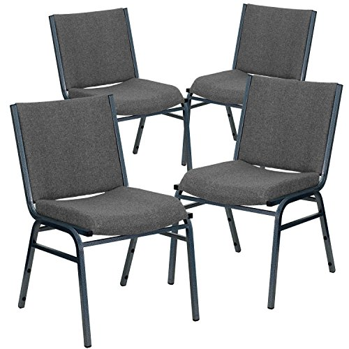 Flash Furniture 4 Pk. HERCULES Series Heavy Duty Gray Fabric Stack ()