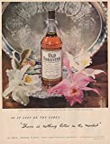 1949 Old Forester: As It Says On the Label, Brown Forman Distillery Print Ad