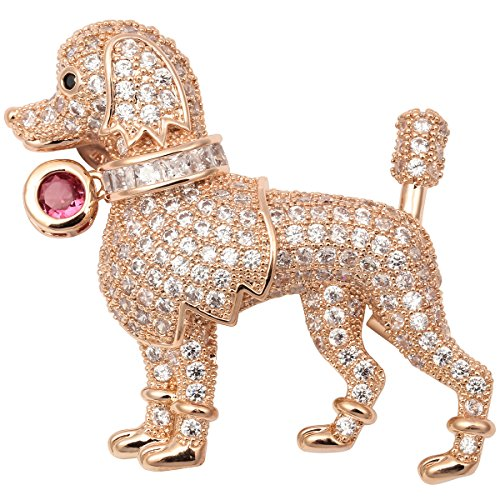 Valentine's Day Themed Costume (Hiddleston Jewelry Valentines Day Cubic Zircinia CZ Labrador Dog Puppy Brooch Pin Women Teen Girl)