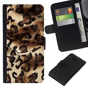 KLONGSHOP // Tirón de la caja Cartera de cuero con ranuras para tarjetas - Patrón Leopard Moda Piel vestido de Diseño - Samsung ALPHA G850 //
