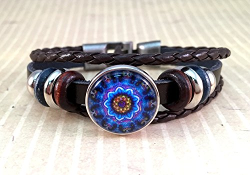 dark-brown-leather-snap-bracelet-wrap-gingersnap-charm-snap-jewelry-noosa-style-interchangeable-snap