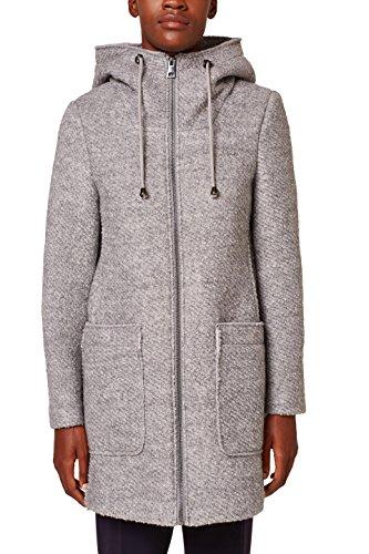 Esprit, Manteau Femme Gris (Light Grey 4 043)