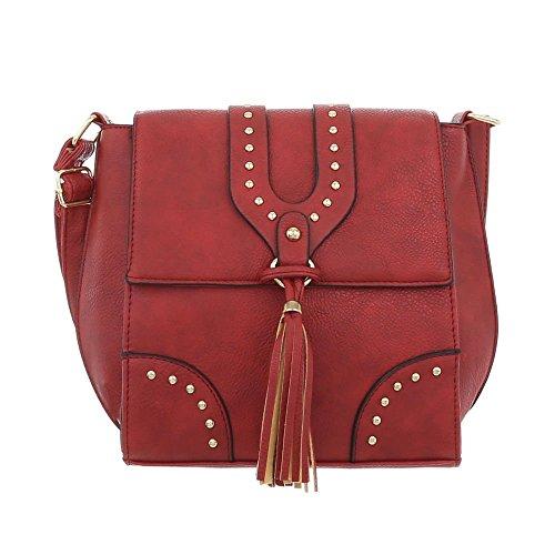 para de Ital hombro Design Bolso Rojo al Sintético mujer xZZvBYMwpq