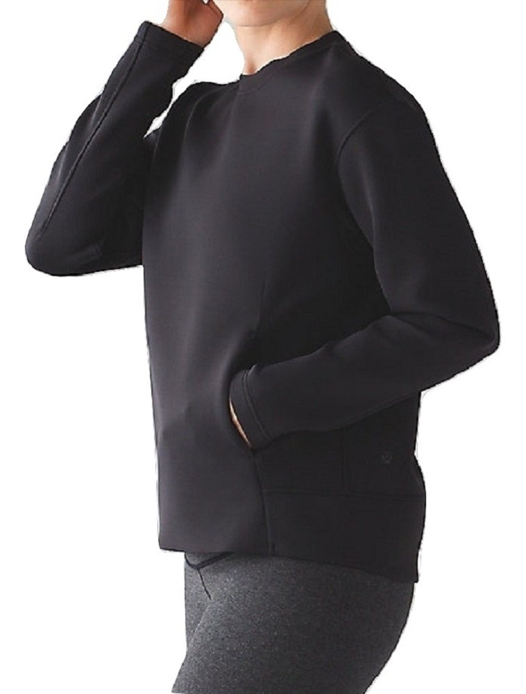 Lululemon Embrace The Space Crew Neck Sweatshirt (10, Black)