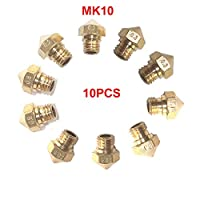 CCTREE 10PCS MK10 M7 Extruder Nozzle For 3D Printer Wanhao Dupicator D4/I3/Dremel QIDI Makerbot 2 0.2mm,0.3mm,0.4mm,0.6mm,0.8mm from CCTREE