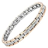 Beautiful, Duo-Tone Titanium Magnetic Therapy Bracelet - Pain Relief from Earth Therap