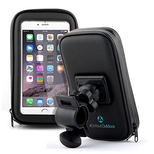 Fahrradhalterung Halter Lenkradhalterung Bike Holder mit wasserdichter Schutzhülle Tasche Universal für Smartphones, Handy, Navi, GPS ! Halterung 360 Grad drehbar / verschiedene Taschengröße : LARGE