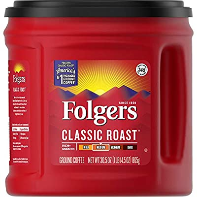 Folgers Classic Roast - Canisters and Bricks Caffeinated