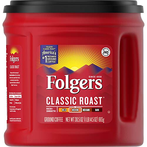 Folgers Classic Roast Ground Coffee, Medium Roast, 30.5 Ounce, Packaging May Vary