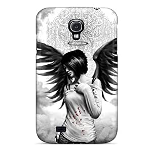 Hot Tpu Cover Case For Galaxy/ S4 Case Cover Skin - Emo Angel