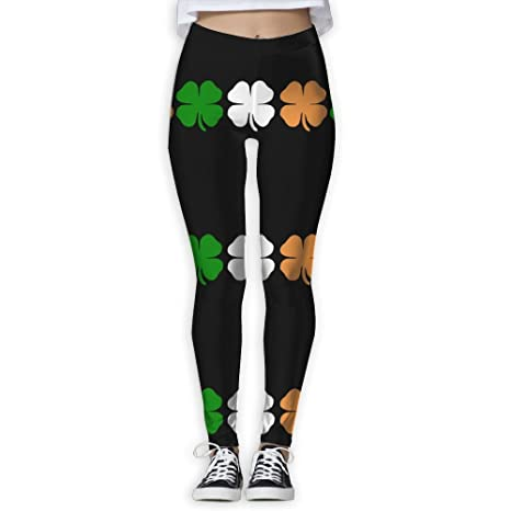 8bcf9fefce Ireland Colours Flag Clover Women S Workout Running Gym Tights Leggings  High Waist Yoga Pants