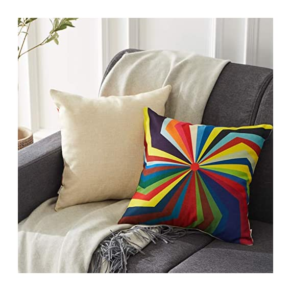 Top Finel Decorative Outdoor Throw Pillow Covers Set - Square Cotton Linen Cushion Covers 18 X 18 Inch for Sofa Couch, Set of 6, Series - SUPER PLUSH MATERIAL & SIZE: Made of high quality cotton linen, comfortable to touch and lay on. 18 X 18 Inch per pack, included 6 packs per set, NO PILLOW INSERTS. WORKMANSHIP: Delicate hidden zipper closure was designed to meet an elegant look. Tight zigzag over-lock stitches to avoid fraying and ripping. NO PECULIAR SMELL: Because of using environmental and high quality cotton linen fabric,our throw pillow cases are the perfect choice for those suffering from asthma, allergen, and other respiratory issues. - patio, outdoor-throw-pillows, outdoor-decor - 51IaUfI8wgL. SS570  -