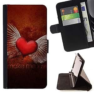 For Sony Xperia Z3 Compact / Z3 Mini (Not Z3) Case , El amor Hacer el Amor- la tarjeta de Crédito Slots PU Funda de cuero Monedero caso cubierta de piel