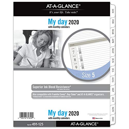 AT-A-GLANCE 2020 Daily Planner Refill, Day Runner, 8-1/2