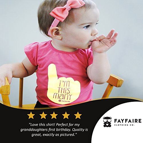 Fayfaire First Birthday Shirt Outfit: Boutique Quality 1st Bday Girl I'm This Many 18M by Fayfaire (Image #2)