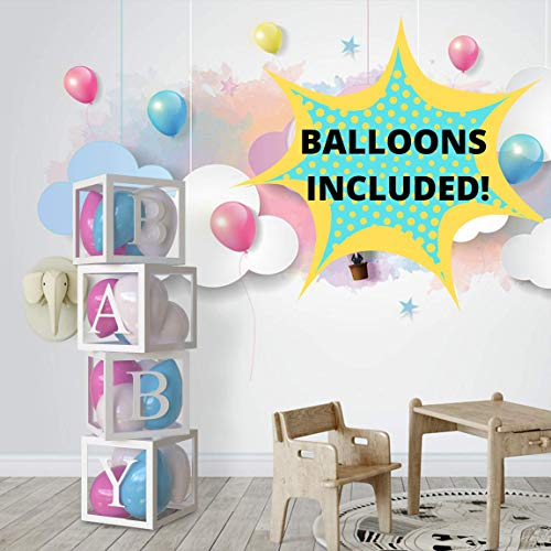 Gender Neutral Baby Shower Party Decorations (Baby Blocks Decorations for Baby Shower, Neutral Baby Shower Decorations, Baby Shower Party Favors, Baby Shower centerpieces, Gender Reveal Party and Baby Block Decorations with)