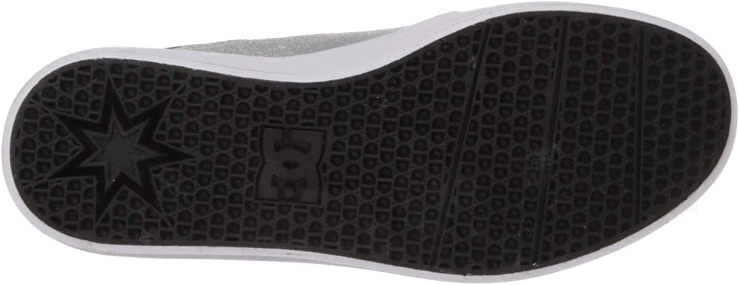 DC Women's Trase Platform Se Skate Shoe Metallic Silver