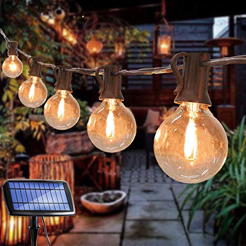 25 Bulb Solar Powered Globe String Lights