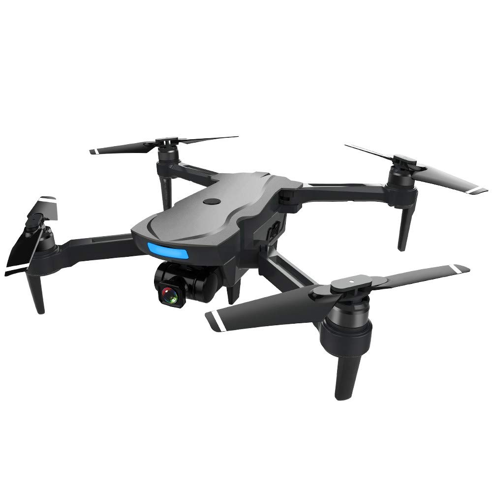 QUNANEN CG033-S GPS 2.4G WiFi FPV 1080P HD Cam Foldable Brushless RC Drone Quadcopter Durable Quality Home Decor Ornament Toy,Home Office Sports Toy Model Airplane Model Helicopter (Black)