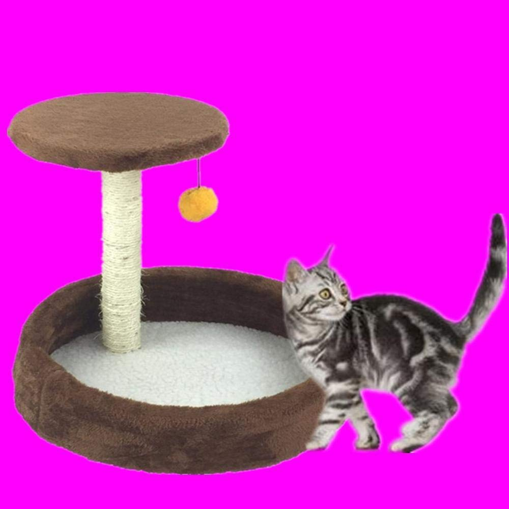 TOUYOUIOPNG Deluxe Multi Level Cat Tree Creative Play Towers Trees for Cats Cat climbing Frame cat tree cat nest cat Jumping Sword rope 41cm 36cm  37cm