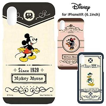 73748976a6 【カラー:ミッキーマウス】iPhoneXR ディズニー ハード ケース ハードケース キャラクター 背面ケース バック