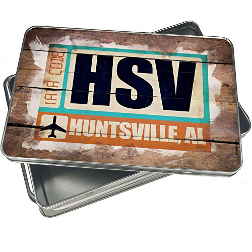 NEONBLOND Cookie Box Airportcode HSV Huntsville, AL Christmas Metal Container ()