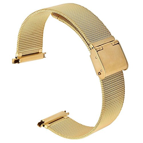 17-22mm Men's Dress Ion Gold Plate Watchband Replacement