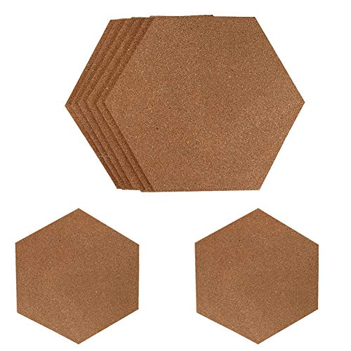 (Cork Board,8Pcs Cork Tile Notice Bulletin Self Adhesive Memo Board for Home Office and School,Natural Mini Wall Bulletin Boards Decoration for Photo Pictures Sticky Notes Drawing Project)