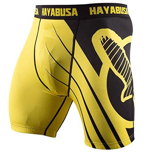 Hayabusa Recast Compression Shorts, Yellow/Black, Large
