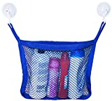 EVK Planet Bath Toy Organizer - Kids Bath Toy Storage for Toddler Toys with extra Strong Suction Cups - Blue