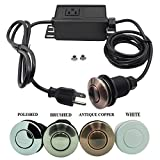 Sink Top Air Switch Kit, Garbage Disposal Part Built-Out Adapter Switch (ANTIQUE COPPER) by Cleesink