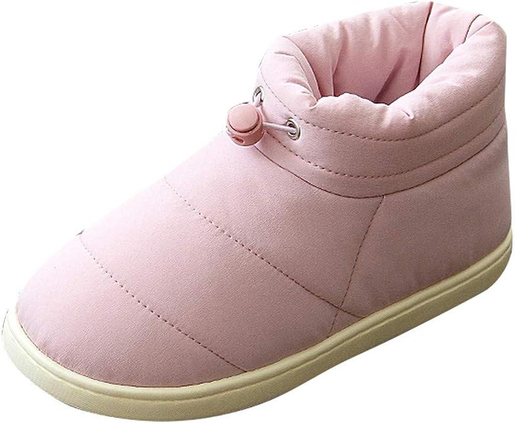 YGbuy Zapatos De Mujer De Moda, Color Sólido, Pareja Salvaje, Invierno Cálido, Interior, Antideslizante, Banda Elástica Superior, Zapatillas De Algodón para El Hogar, Zapatillas De Ocio Deportivo