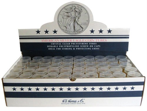 American Silver Eagle round storage tubes (Qty= 5)
