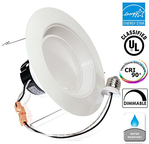 """13Watt 5/6""""-Inch ENERGY STAR UL-Listed Dimmable Baffle LED Recessed Lighting Retrofit Kit Fixture Downlight 2700K Warm White LED Ceiling Light Wet Location-800LM CRI 90 ( fits 5"""" Cans) 5 Yr Warranty"""