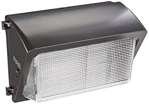 (RAB Lighting WP2H100QT WP2 Glass Lens Metal Halide Wallpack, ED17 Type, Aluminum, 100W Power, 9000 Lumens, 277V, Bronze Color)