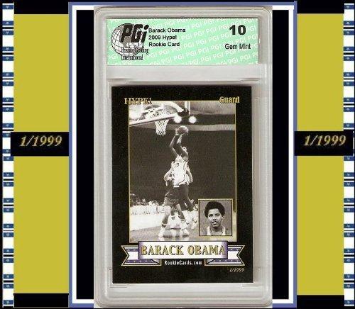 Barack Obama HYPE Basketball Rookie Card 1/1999 PGI 10