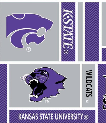 NCAA Cotton Fabric-Kansas State Herringbone ()