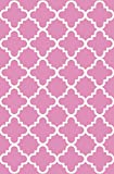 Anti-Bacterial Rubber Back AREA RUGS Non-Skid/Slip 3x5 Floor Rug | Pink Trellis Indoor/Outdoor Thin Low Profile Living Room Kitchen Hallways Home Decorative Traditional Rug